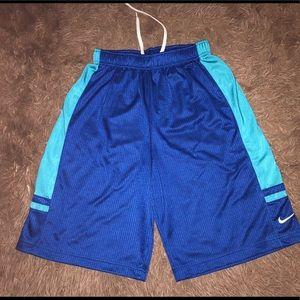 Nike blue basketball shorts